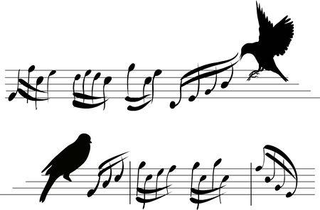 Four set of music notes. musical design element set