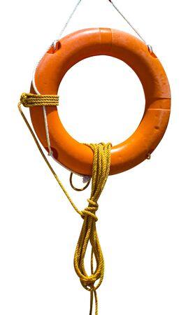 life buoy isolated on a white background Zdjęcie Seryjne