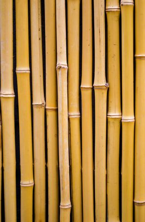 bamboo fence background, close up decorative old bamboo wood of fence wall background
