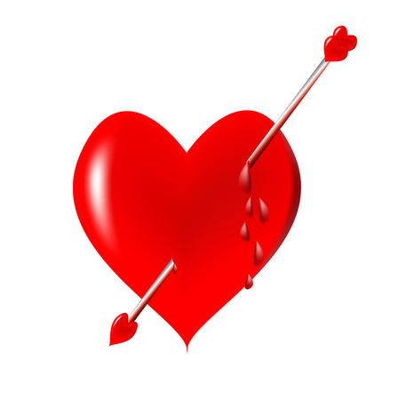 red heart with an arrow