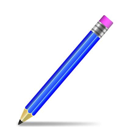 Pencil isolated vector illustration Illustration
