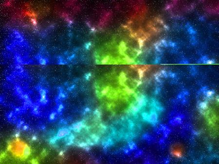 cosmic nebula starry sky colorful background illustration