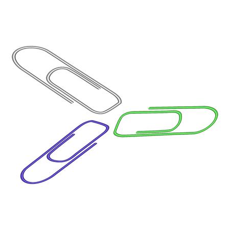 Illustration of a paper clip on white Illustration