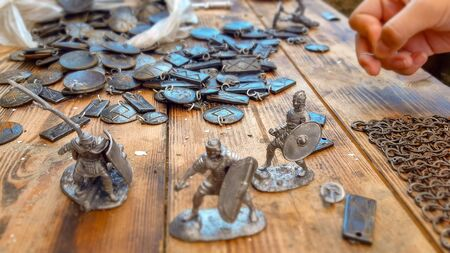 military soldiers spilled from iron collection, military soldiers spilled from iron collection