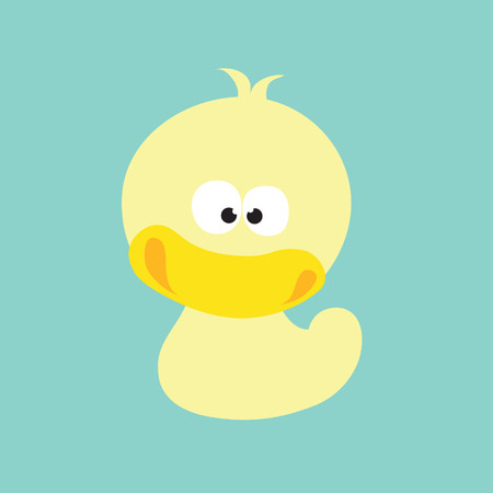rubber duck: quacked up duck vector Illustration