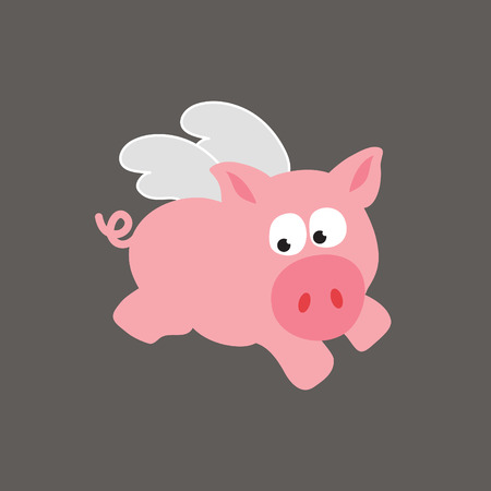 oink: flying pig  Illustration