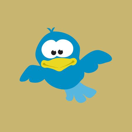 Uccello in volo ad alta
