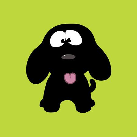 쾌활한 강아지 벡터