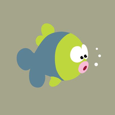 Curious Fish Vector Ilustração