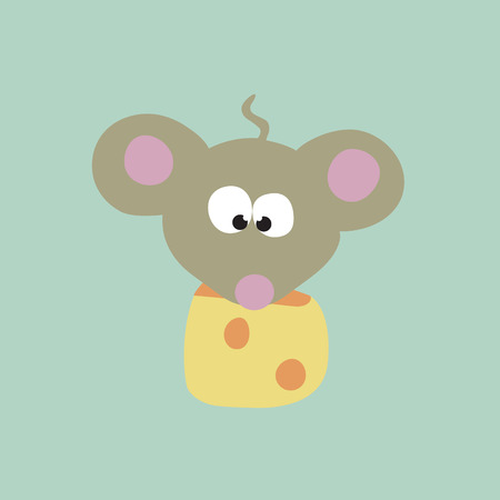 hungry kid: Mouse & Cheese Vector