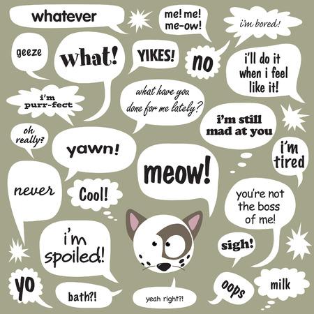 oups: Diverses expressions dans des bulles de bande dessin�e