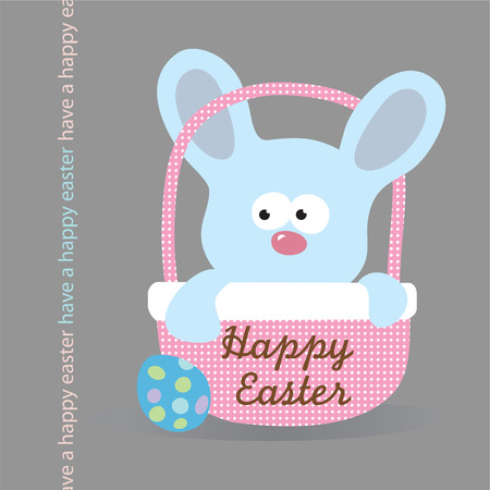 Easter Bunny in basket Stock Vector - 4445632