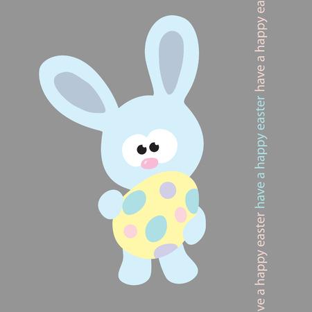 Blue Easter Bunny Stock Vector - 4445620