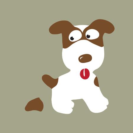 contorno: Pooping Perro Vectores