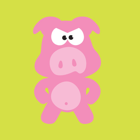 Mad Pig Vector