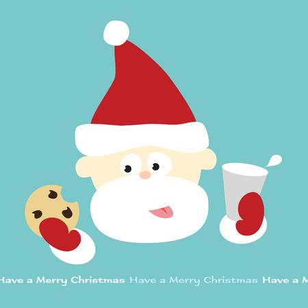 Santas milk and cookie break Vector
