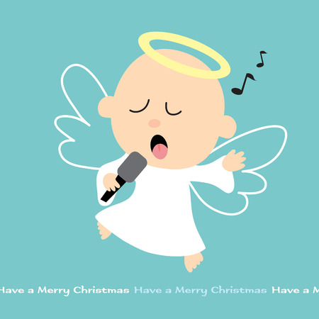 songs: Singing Angel with mike