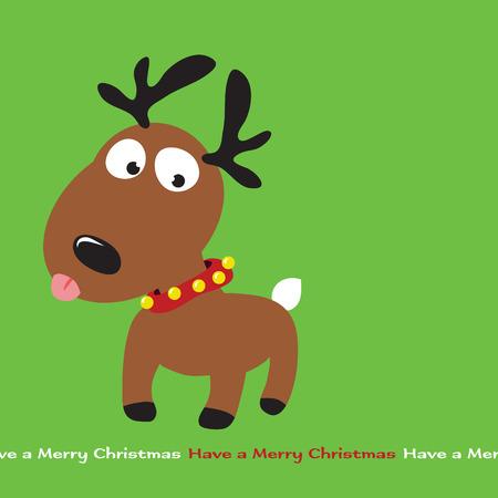 christmas postcard: Christmas Reindeer