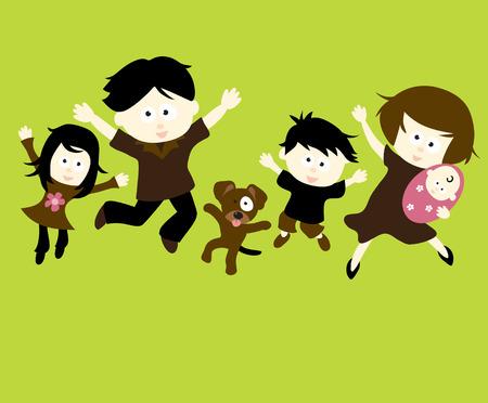 cosmopolitan: Family Jumping