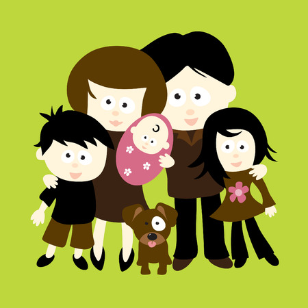 we: We are Family Illustration