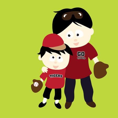 familia asiatica: Padre e hijo