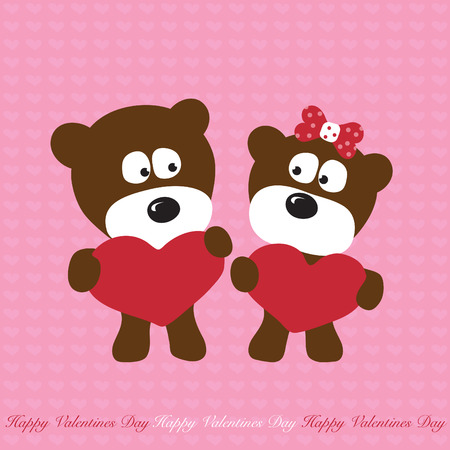 childishness: Bears in love Illustration