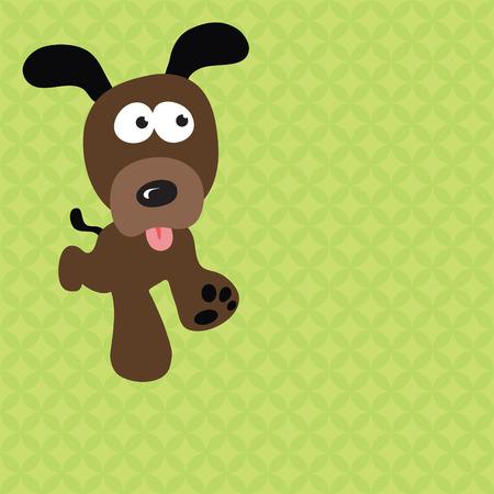 kid vector: Correr perro Vectores