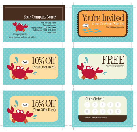 frequent: 3.5x2 business card and promo cards (includes crop marks, key line and bleed)