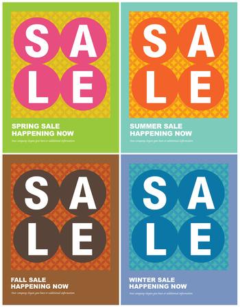 8.5x11 Seasonal Sales FlyerPoster templates