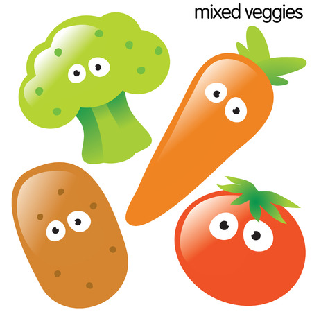 Vegetable Set 1 Stock Vector - 4578063