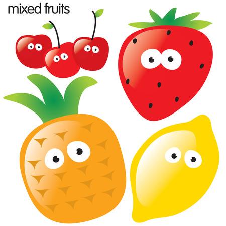 cartoon fruit: Fruit set 2