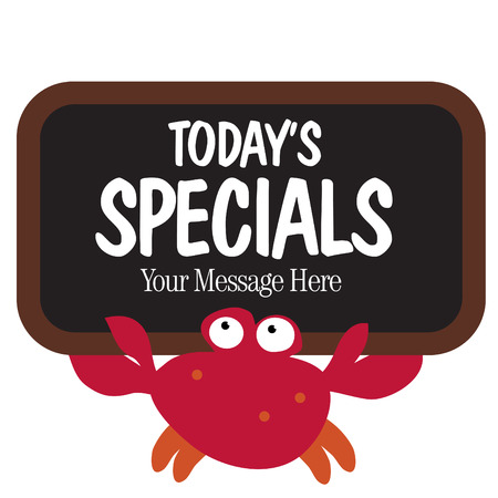 crabs: Isolated crab holding sign Illustration