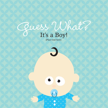 picture postcards: Baby Boy Announcement Card