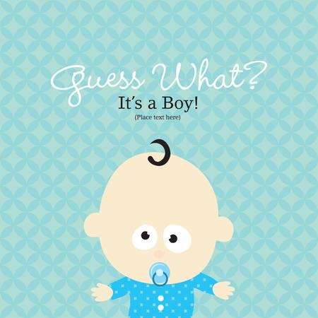 Baby Boy Annuncio Card Vettoriali