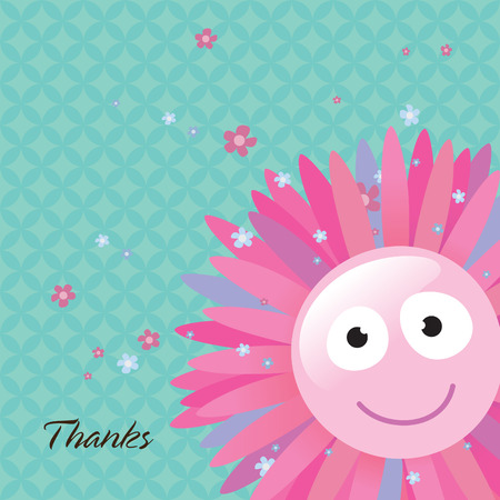 Thank You Card Stock Vector - 4578099
