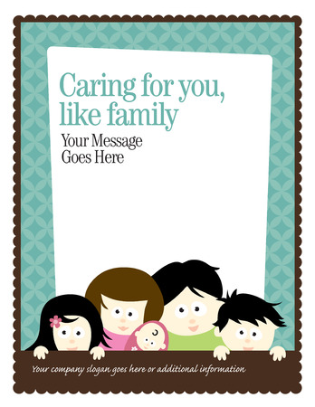 mixed family: 8.5x11 FlyerPoster Template