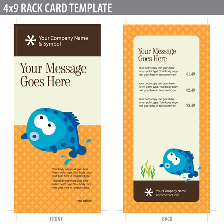handout: 4x9 Rack Card Brochure Template (elements in layers)
