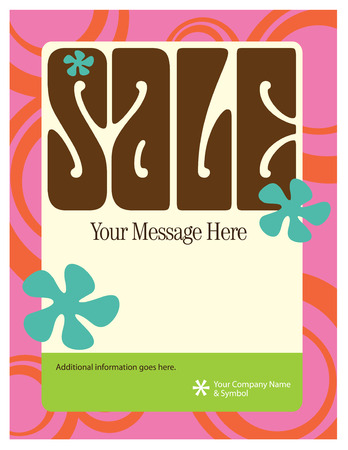 nineteen: 8.5x11 Seventies Style Sale FlyerPoster Template