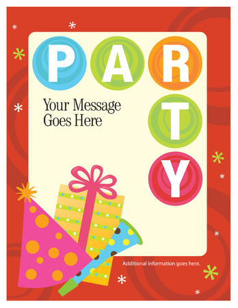 sheen: 8.5x11 Party FlyerPoster Template