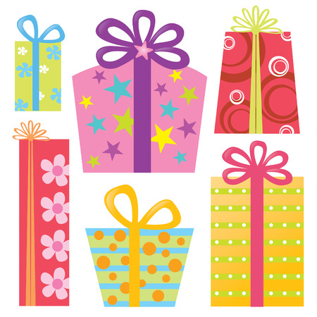 trapezoid: Assorted GiftPresents  Illustration