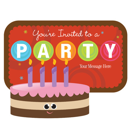 Isolated Cake with sign Vector