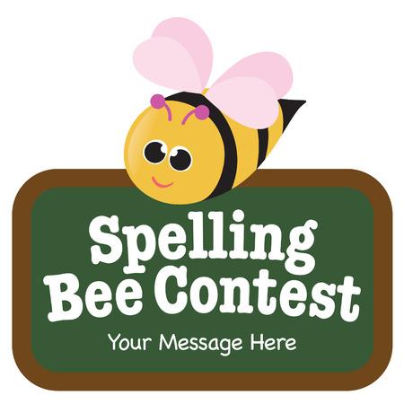 Bee aislados con pizarra