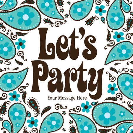 lets: Seventies Style Party Invitation