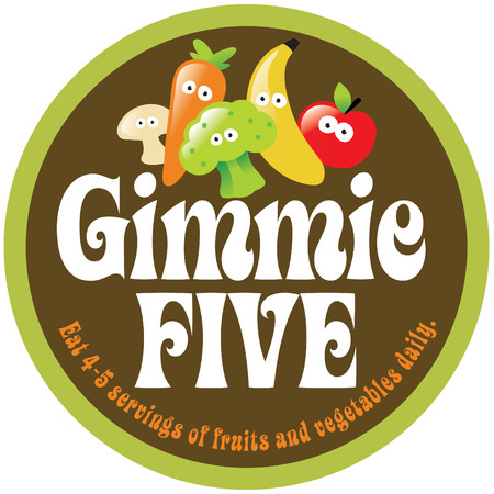 Gimmie Five Promo Sticker/Label Stock Vector - 4658334