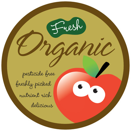 pesticide free: Organic StickerLabel (add your own message)