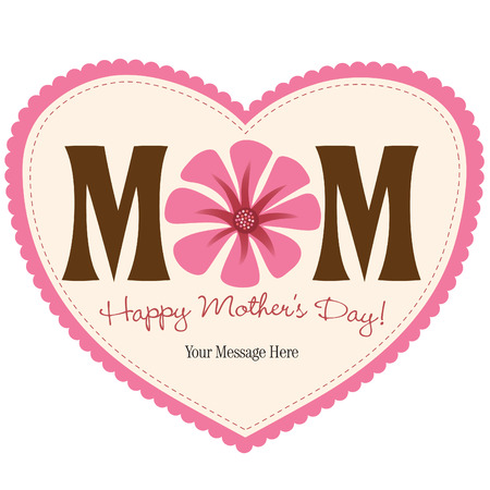 Isolierte Muttertag Herz Standard-Bild - 4775886