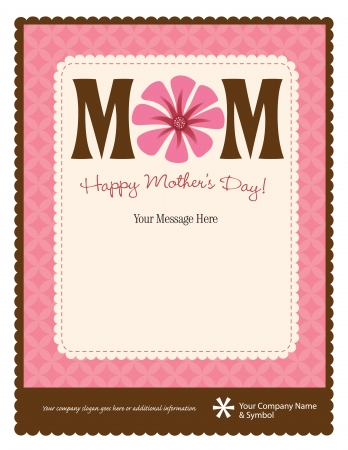 8.5x11 Happy Mothers Day FlyerPoster Template Vector