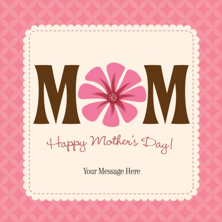 Mother's Day Card/Poster Vectores