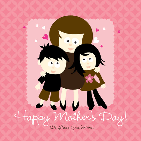 happy mothers day card Çizim