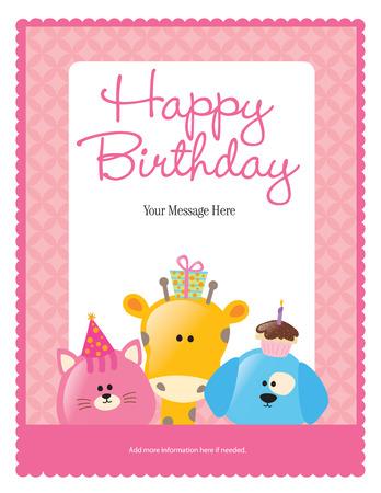 8.5x11 생일 전단지  포스터 템플릿
